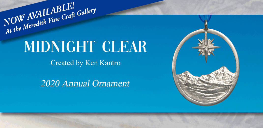 2020 Annual Ornament by Ken Cantro Available now at Meredith Fine Craft Gallery